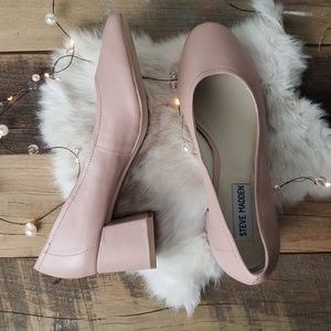 Steve Madden Tomorrow Style Chunky Pink Heels